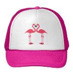 Pink Flamingo Love Birds Cap