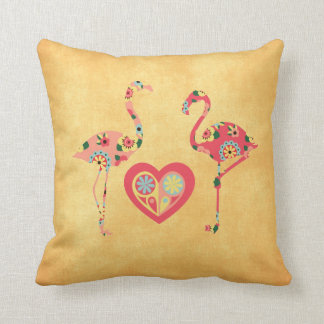 Pink Flamingo Love Cushion