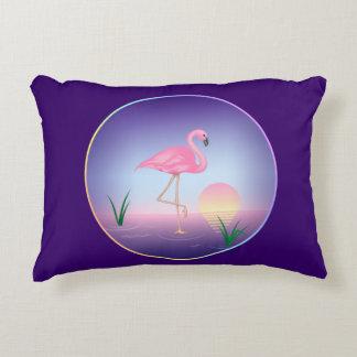 Pink Flamingo Accent Pillow