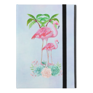 """Pink Flamingo Momma & Baby with Palm Trees iPad Pro 9.7"""" Case"""