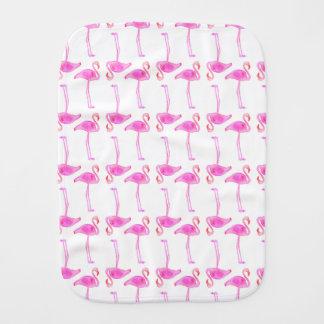 Pink Flamingo Pattern Baby Burp Cloths