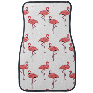 Pink Flamingo Pattern Car Mat