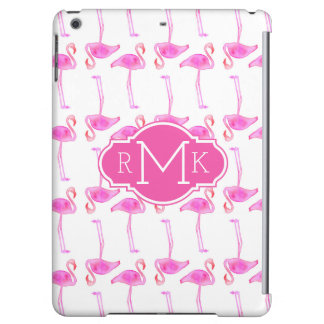 Pink Flamingo Pattern | Monogram