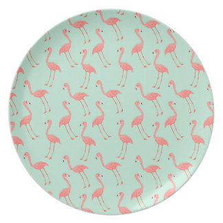 Pink Flamingo Pattern Plate