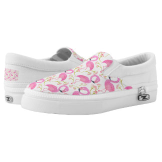 Pink Flamingo Pattern Slip-On Shoes