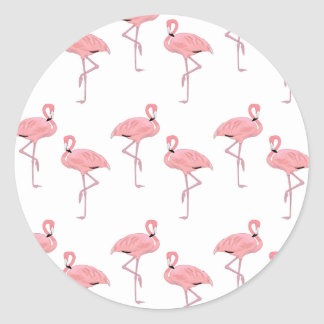 pink flamingo pattern stickers