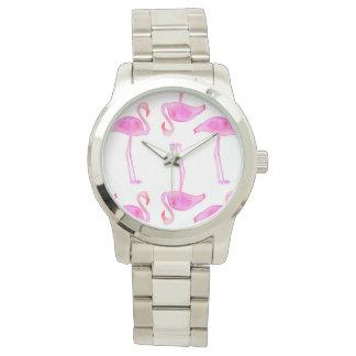 Pink Flamingo Pattern Watches