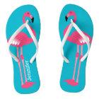 Pink Flamingo Personalised Flip Flops