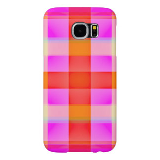Pink Flamingo Plaid Samsung Galaxy S6 Cases