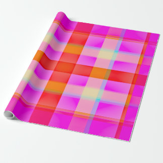 Pink Flamingo Plaid Wrapping Paper