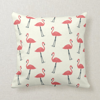Pink Flamingo Print Pillow