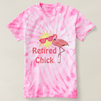 Pink Flamingo Retired Chick Happy Sunshine T-Shirt