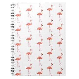 Pink Flamingo Simple Pattern Notebook