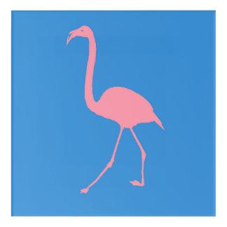 Pink Flamingo Stencil Acrylic Print