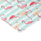 Pink flamingo stripe pattern tissue paper