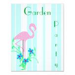 Pink Flamingo Summer Party Invitation 11 Cm X 14 Cm Invitation Card