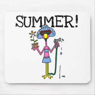 Pink Flamingo Summer T-shirts and Gifts Mouse Mat