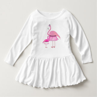 Pink Flamingo Toddler Ruffle Dress