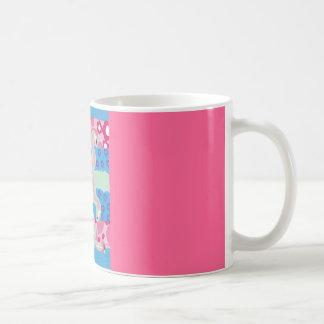 Pink Flamingo Trio - Live Well Classic White Coffee Mug