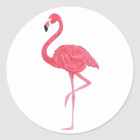 Pink Flamingo Tropical Stickers