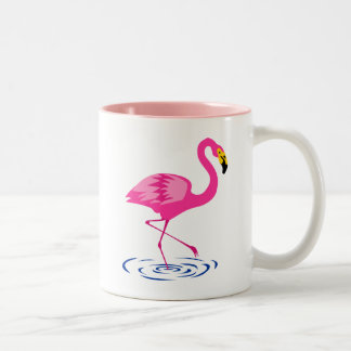 Pink Flamingo Two-Tone Coffee Mug