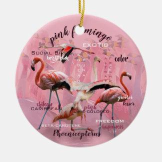 Pink Flamingo Typography | Customized Christmas Ornament