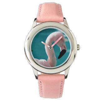 Pink flamingo watch