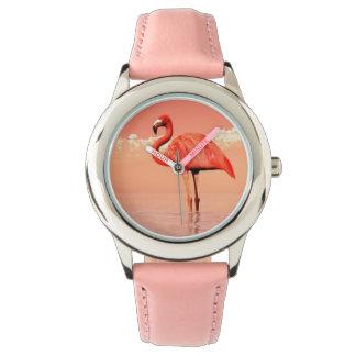 Pink flamingo watches