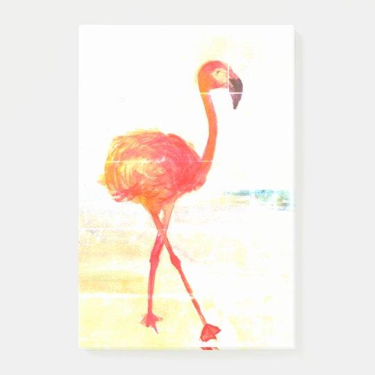 Pink Flamingo Watercolor Drawing Post-it Notes