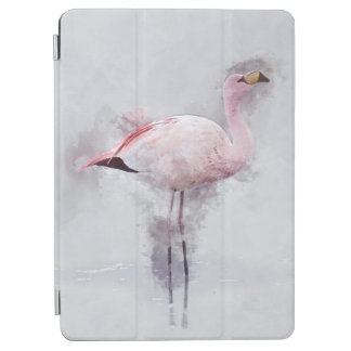 Pink Flamingo Watercolor iPad Pro Cover