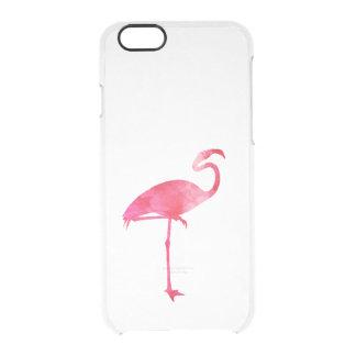 Pink Flamingo Watercolor Silhouette Florida Birds iPhone 6 Plus Case
