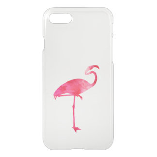 Pink Flamingo Watercolor Silhouette Florida Birds iPhone 7 Case