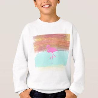 Pink Flamingo Watercolour Beach  Style Design Sweatshirt