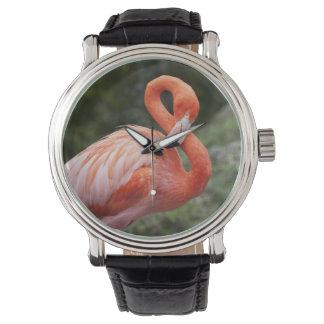 Pink Flamingo Wrist Watches