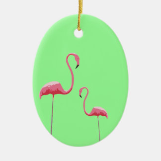 Pink Flamingoes Ornament