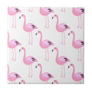 Pink Flamingos 2 Small Square Tile