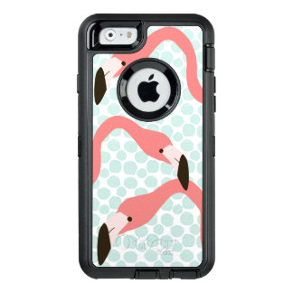 Pink Flamingos and Blue Dots Whimsical OtterBox iPhone 6/6s Case