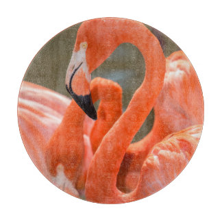 Pink Flamingos at Gatorland Cutting Board
