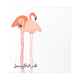 Pink Flamingos Beach Wedding Notepad