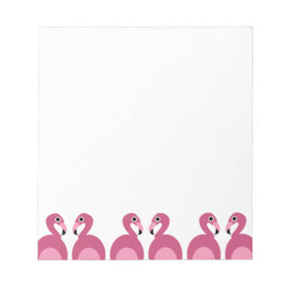 Pink Flamingos Border - Notepad