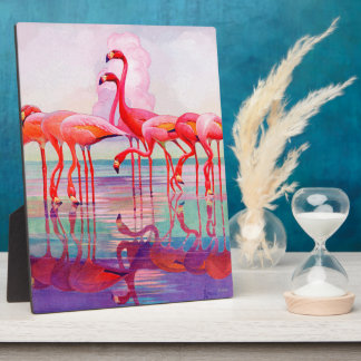 Pink Flamingos by Francis Lee Jaques Plaque