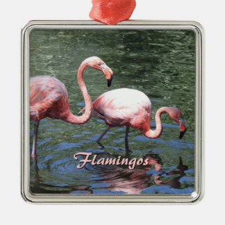 Pink Flamingos Christmas Ornament