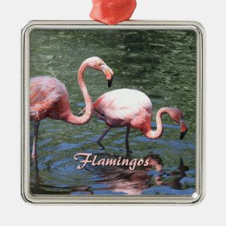 Pink Flamingos Christmas Ornament