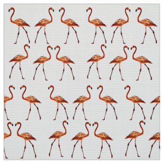 Pink Flamingos Custom Pima Cotton  Fabric