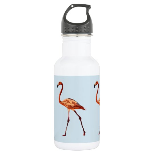 Pink Flamingos Custom Water Bottle