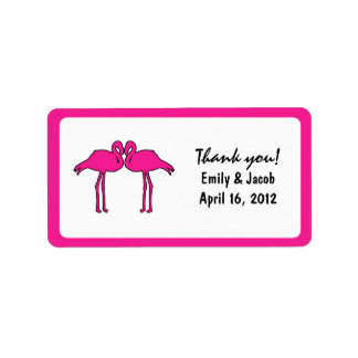 Pink Flamingos Favor Tags Address Label