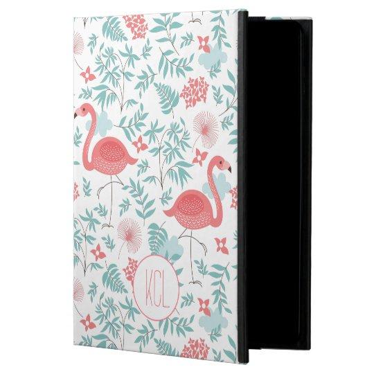 Pink Flamingos & Flowers Seamless Pattern Powis iPad