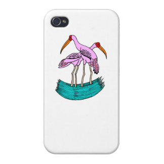 Pink Flamingos iPhone 4 Cover