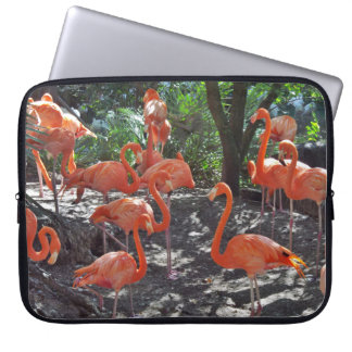 Pink Flamingos Laptop Sleeve