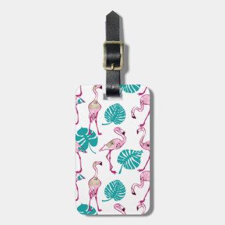 Pink Flamingos Luggage Tag